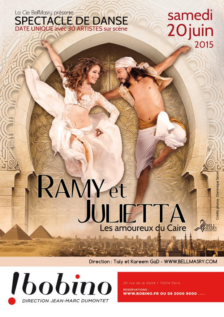 ramy et julietta spectacle danse orientale paris
