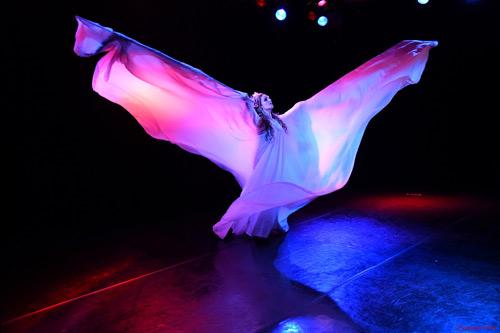 danseuse danse serpentine grandes ailes blanches